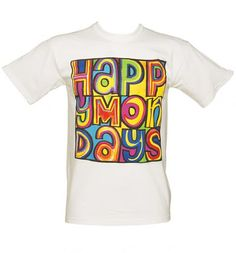 Re-live those hippy happy days of grunge and general 90's craziness with this wicked Happy Mondays tee. This tee will definitely put you in a happy mood on any dull, depressing Monday!