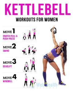 Kettlebell Workouts for Women. #crossfit