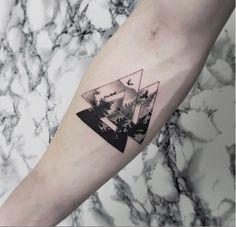 fine line valknut fine line black and grey Hon Tattoo Viking Tattoo Sleeve, Norse Tattoo, Celtic Tattoos, Viking Tattoos, Forearm Band Tattoos, Arm Tattoo, Baby Tattoos, Body Art Tattoos, Tattoo Sleeve Designs
