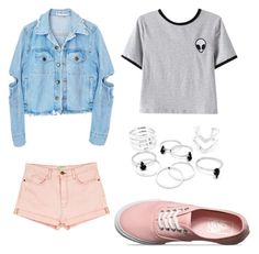 """""""Pretty"""" by chlo306x on Polyvore featuring Chicnova Fashion, Current/Elliott and Vans"""