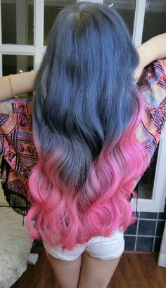 Pink ombre dyed hair