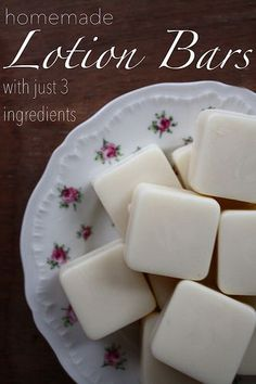 Homemade Lotion Bars With Just 3 Ingredients