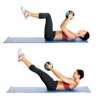 Flat-Ab Pilates Workout. Easy at home workout, all you need is a pilates ball! summercherie24 inspiration six-pack-abs excercise
