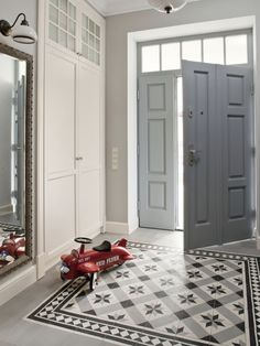 Hall Tiles, Tiled Hallway, Entry Hallway, Entryway Flooring, Hall Flooring, Home Entrance Decor, House Entrance, Ideas Cabaña, Hallway Inspiration