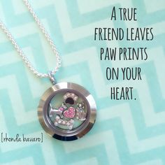 Keep your pets close to your heart with an Origami Owl locket. Perfect for pet and animal lovers. Great personalized gift. www.rhondabavaro.origamiowl.com