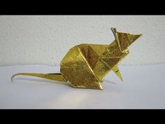 Permission granted by Steven Casey. Watch how the cute little mouse comes alive by folding just a single sheet of square paper using origami method (from the. Origami Mouse, Paper Butterflies, Origami Animals, Oragami, Origami Tutorial, Paper Folding, Cuff Bracelets, How To Make, Gifts