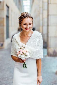 Shrug,Bolerio  Wedding in creme    Lamb/'s-wool