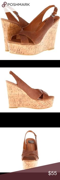 SALE!! Dolce Vita Jill Natural Leather Wedges NWT Dolce Vita leather platform wedges. These shoes are so adorable! Bought and never wore them. New, in box with Tags. All leather with sealed cork wedges. Bought at Marshalls for $59.99. Originally priced at $159.00. Dolce Vita Shoes Wedges