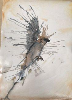Watercolour painting Watercolour Painting, Bird, Artwork, Animals, Work Of Art, Animales, Auguste Rodin Artwork, Animaux, Birds