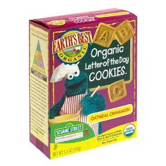 Earth's Best Organic Sesame Street Letter of the Day Cookies