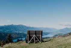 Bank auf Berg über dem Millstättersee Seen, Mountains, Nature, Travel, Naturaleza, Viajes, Destinations, Traveling, Trips