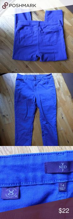 Cobalt Blue NYDJ Cropped Jeans Excellent condition, cobalt blue NYDJ , inseam is 25 inches NYDJ Jeans Ankle & Cropped