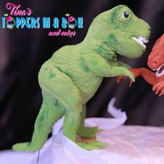 #t-rexdinosaurfondanttopper #tinastoppersinabox Cake Toppers, Dinosaur Stuffed Animal, Animals, Animales, Animaux, Animais, Animal