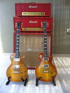 Les Paul and Marshall #amps