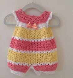 Great Picture of Crochet Baby Dress Pattern Free Crochet Baby Dress Pattern Free Crochet Infant Romper 0 3 Months Ba Crochet Patterns Are So Crochet Baby Dress Pattern, Crochet Romper, Crochet Bebe, Baby Girl Crochet, Crochet Baby Clothes, Crochet For Kids, Knit Crochet, Crochet Baby Dresses, Crochet Toddler