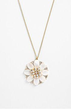 kate spade new york 'bungalow bouquet' long pendant necklace | Nordstrom