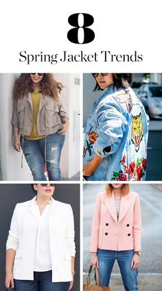 8 Trendy Jackets You'll See Everywhere This Spring via @PureWow