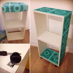 Renovar sempre! #reformamóvel #terapia #cozinha #myyellowbox #artesanato #tecido