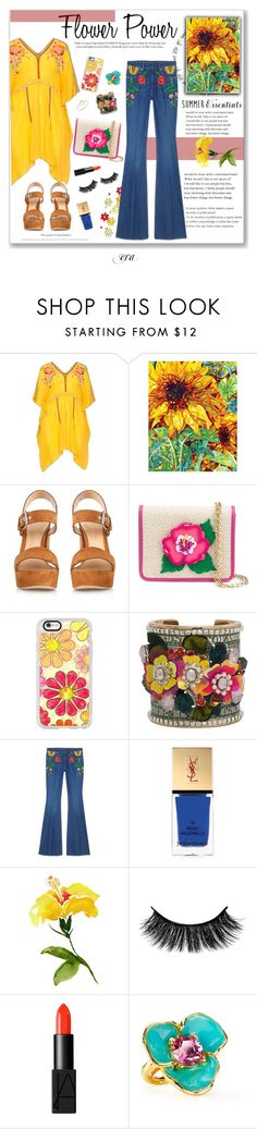"""Flower power"" by antal-era ❤ liked on Polyvore featuring Johnny Was, Gianvito Rossi, Yazbukey, Casetify, Bijoux de Famille, Gucci, Yves Saint Laurent, NARS Cosmetics, Kenneth Jay Lane and ZoÃ« Chicco"