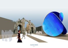 Escenografía virtual para grupo escultórico Gate, Clouds, 3d, Travel, Contemporary Architecture, Group, Viajes, Portal, Destinations
