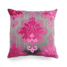 Pink Damask Pillow now featured on Fab.