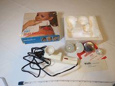 Wahl 5 in 1 heat massager kit vibrator VINTAGE RARE attachments head massage box #Wahl