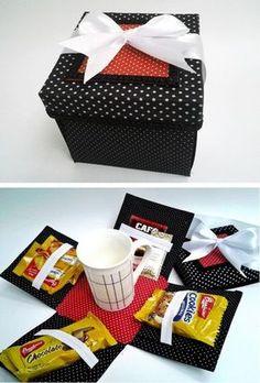 Caixa de café surpresa - Dia dos Pais