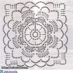 : MATTONELLE a uncinetto (schemi) | UNCINETTO - copriletti