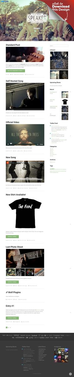 Nuzi Retina Ready Wordpress Theme | Music Wordpress Themes ...