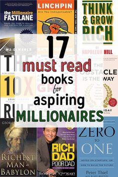 17 Books To Read If You Want To Become A Millionaire. The Best Business Books of all Time. This book list from the top CEOs founders and entrepreneurs to select the best business books of all time. Top Books To Read, Best Books Of All Time, Good Books, Book Club Books, Book Lists, Entrepreneur Books, Leadership, Self Development Books, Money Book