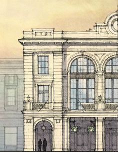 Meeting Street Station - Detail of Grand Concourse by Historical Concepts Architecture Classique, Classic Architecture, Architecture Drawings, Architecture Details, Architecture Diagrams, Architecture Portfolio, Historical Architecture, Sustainable Architecture, Landscape Architecture