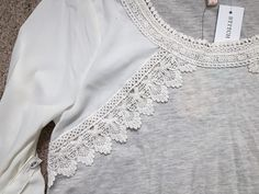 Stitch Fix. Darling top! https://www.stitchfix.com/referral/4371189 Stitch Fix: Skies are Blue Pike Crochet Trim Top {Beautiful detail. Just love it.}