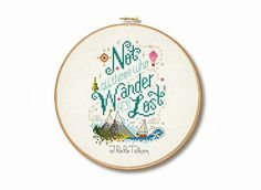 Add a little hobbit to your home with one of our famous quote hoops! This Tolkein quote is perfect for fans of all things travel! think looks rather charming on its own or as part of a set too. Whats more Its perfect for beginners/intermediate level as it contains whole stitches and