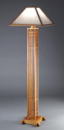 Japanese inspired lights table lamp brings an exquisite style craftsman floor lamp aloadofball Image collections