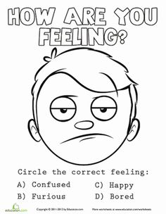 Emotions Coloring Sheet 5 Counseling Ideas Pinterest