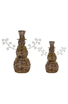 MELROSE GIFTS Melrose Gifts Light Up Snowmen (Set of 2) available at #Nordstrom