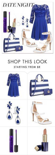 """Royal blue date night"" by darcylee on Polyvore featuring Effy Jewelry, INC International Concepts, NYX, Estée Lauder and Roberto Coin"