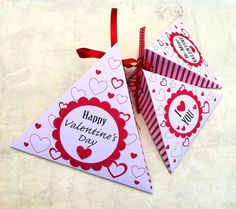 DIY printable Valentine's Day gift box templates.