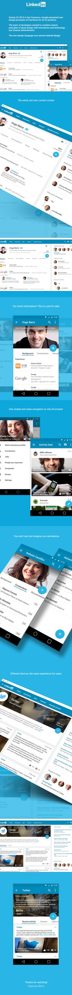 Linkedin Material Design on Web Design Served