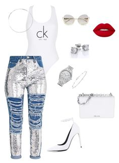 """""""Untitled #248"""" by stylistrr on Polyvore featuring Calvin Klein, Balenciaga, Prada, Lime Crime, AS29, JBW and Anne Sisteron"""