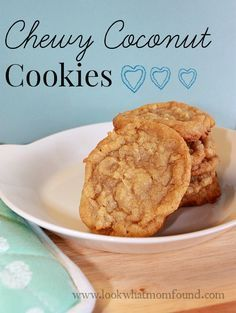 chewy coconut cookies #recipe