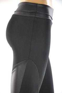 Leather-paneled leggings $39