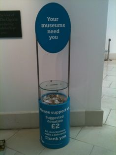 Donation box designed for a museum