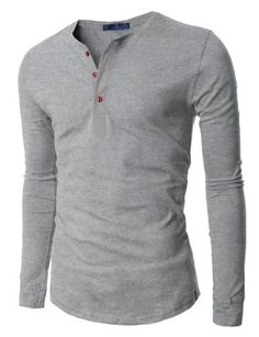 Doublju Mens Henley T-shirts with Long Sleeve GRAY (US-S) Doublju,http://www.amazon.com/dp/B00DMZFKCS/ref=cm_sw_r_pi_dp_7ZGrsb0S5RZQAZ4R
