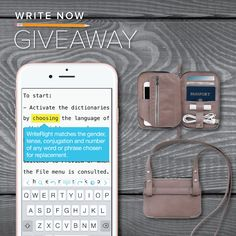 Our Write Now iPhone giveaway is in full swing! One lucky winner will receive a free iPhone 6s, our WriteRight & Tag Journal apps, and a leather organizer case from @thisisground – a prize bundle worth over $900! #giveaway #iphone6 #app @thisisground http://wshe.es/eTzHMJ2S