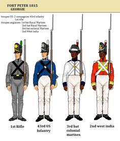 West India Regiment- War of 1812 British Uniforms, Navy Uniforms, Military Uniforms, Army & Navy, Us Army, Independence War, Army Uniform, Uniform Dress, Crusader Knight