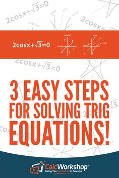 Learn how to solve any trig equation, including multiple and half angles, by asking 1 simple question and then applying your knowledge of the Unit Circle! Systems Of Equations, Solving Equations, Trig Circle, Mathematics Geometry, Precalculus, Math Courses, Order Of Operations, Math Work, Angles