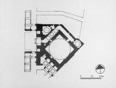 Plan of Mosque of Shaykh Lutfallah, Isfahan, 1619, Iran