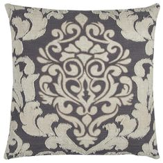 Rizzy Home Cotton Fabric Pillow in Ivory Color DOHT12340IVGY2020