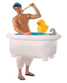 Bei diesem Kostüm ist der nackte Oberkörper Pflicht! #Kostüm #Badewanne #Karneval #Verkleidung #bathtub #originell #Kostümidee